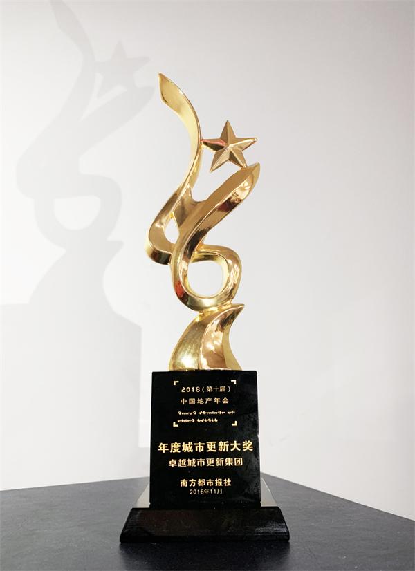 实力见证荣誉 | 卓越集团2018中国地产年会斩获两项大奖